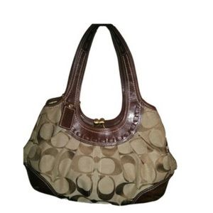 Coach H0869-12232 Brown Material &leather Hobo